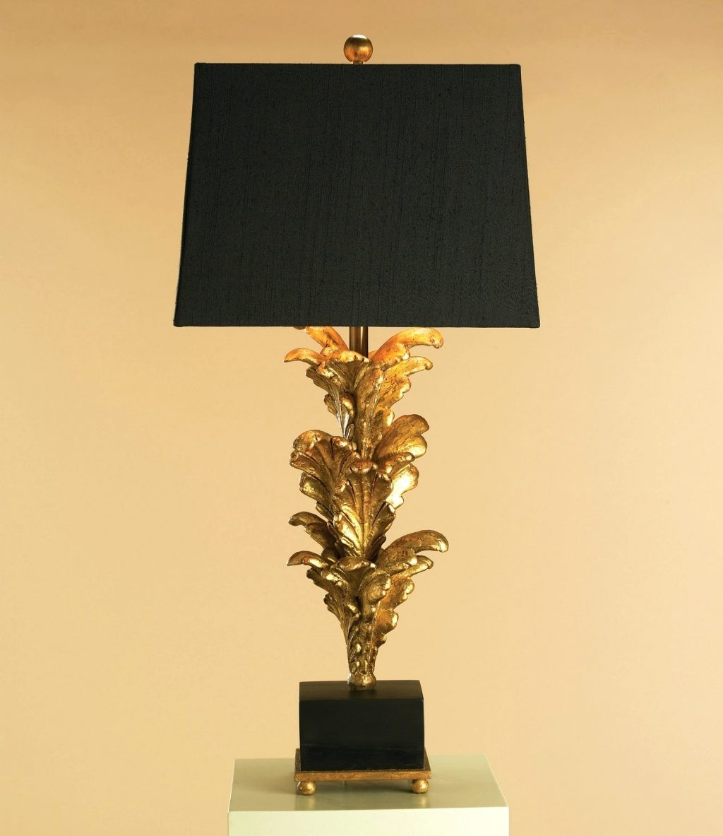 Amazing Black Gold Liner Lamp Shades 1
