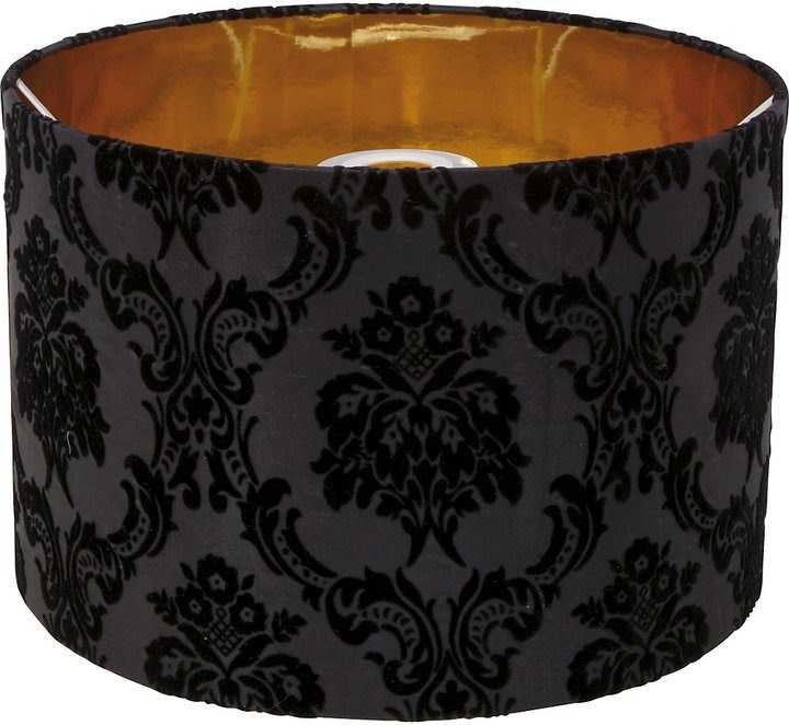 Awesome Black Lamp Shades With Gold Lining