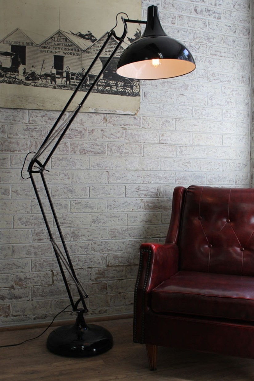 Black Metal Floor Lamp