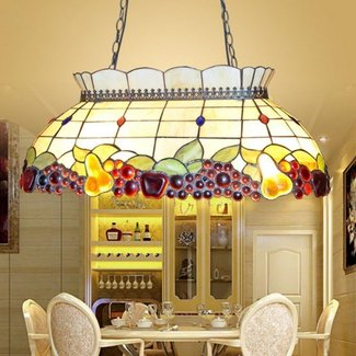 Byb 4 lights tiffany style stained glass hanging pendant ceiling