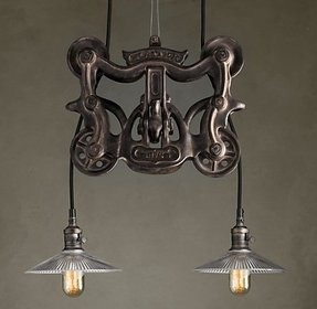 Cast iron lamp 1