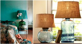 Colored glass table lamps foter colored glass table lamps aloadofball Gallery
