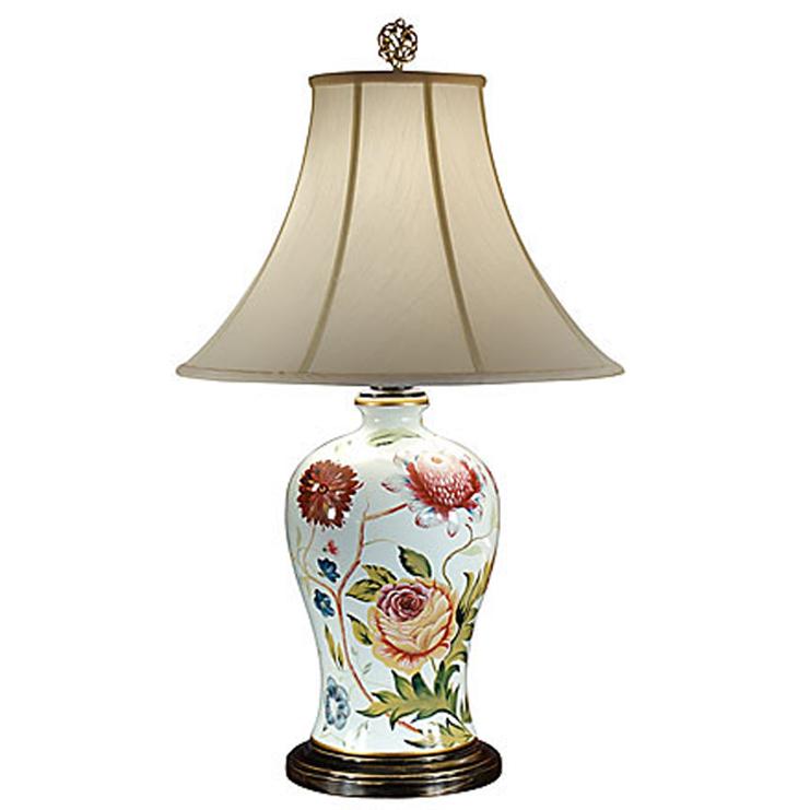 Charming Floral Porcelain Table Lamp 2