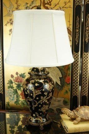 Floral porcelain table lamp foter french black chinoiserie floral porcelain table lamp aloadofball Image collections