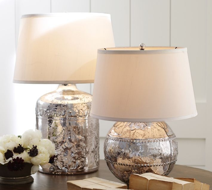 Glass Cylinder Table Lamp 42