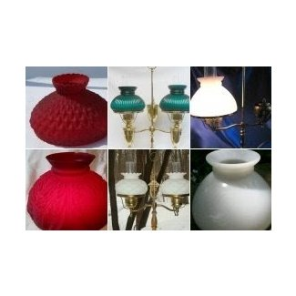 Glass student lamp shades