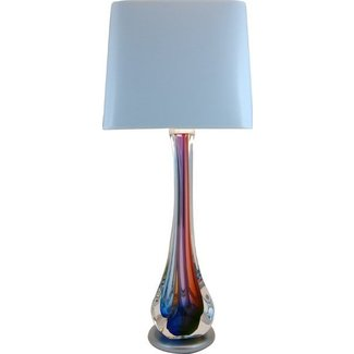 Harrie art glass beautiful side table lamp hand blown glass