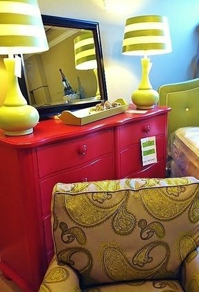 Lime green lamps 7