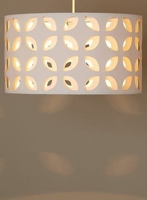 Pendant lamp shade with diffuser