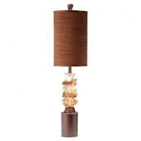 River rock table lamp 17