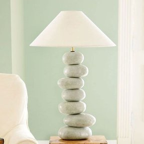 River rock table lamp 9