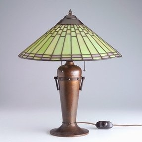 Roycroft copper table lamp 13