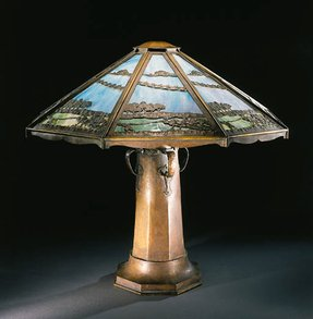 Roycroft copper table lamp 3