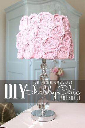 Shabby chic lamp shade 1