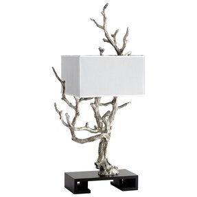 Silver tree sculpture table lamp can t afford it but
