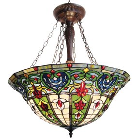 Stained glass hanging pendant lamp foter stained glass ceiling light aloadofball Gallery