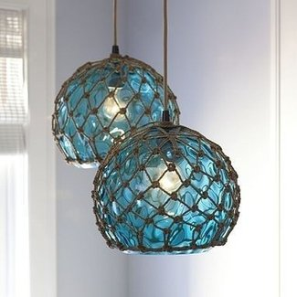 Stained glass hanging pendant lamp 1
