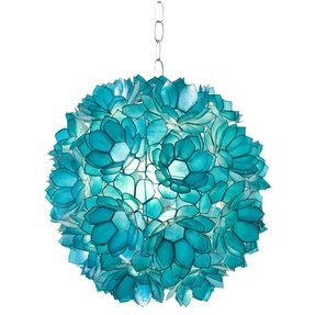 Stained glass hanging pendant lamp 2