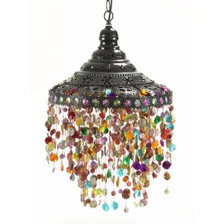 Stained glass hanging pendant lamp
