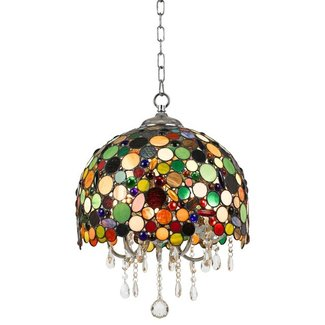 Stained glass light fixtures dining room