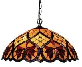 Stained glass hanging pendant lamp foter stained glass pendant lights aloadofball Gallery