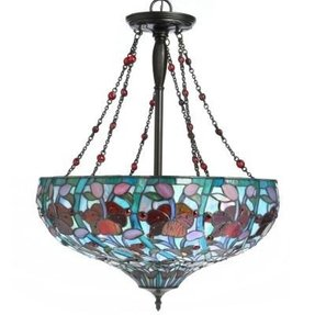 Stained glass hanging pendant lamp foter stained glass pendant aloadofball Image collections