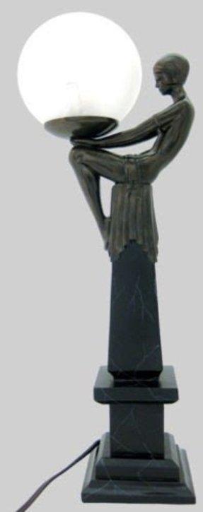 Art Nouveau Lady Lamp Foter