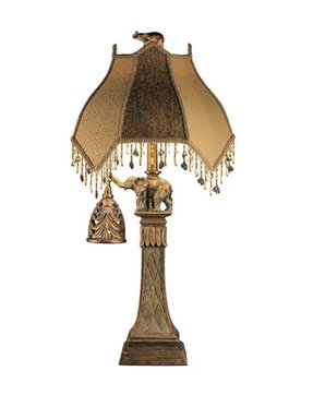 Tassel shade table lamp 14