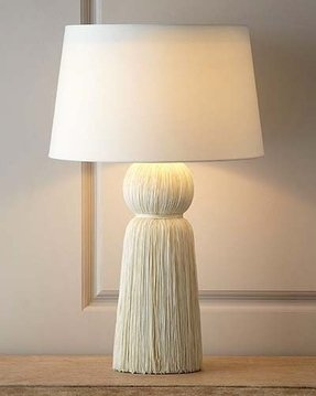 Tassel shade table lamp 5