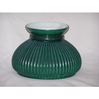 Vintage glass lamp shade green in color