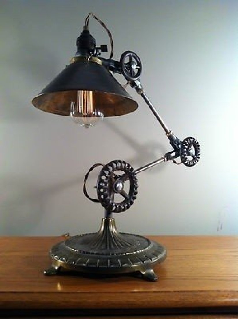 Copper Antique Table Lamp Century Restoration Nautical Industrial Desk Lighting