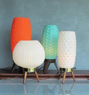 Vintage Lamp Beehive Atomic Mid Century