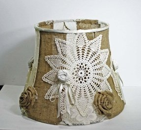 Shabby chic lamp shade foter vintage shabby chic lamp shades aloadofball Gallery