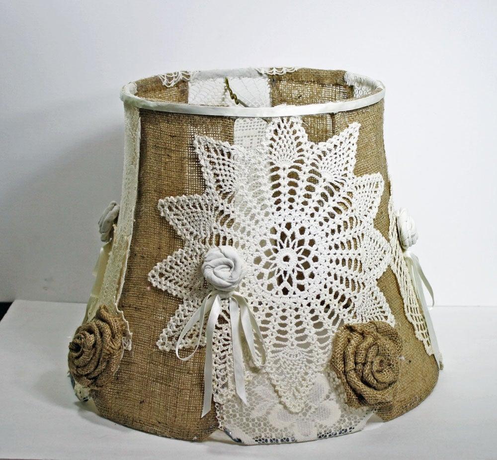 Wonderful Vintage Shabby Chic Lamp Shades