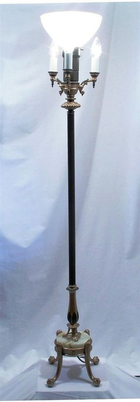 Antiques torchiere floor lamp foter vintage torchiere floor lamp aloadofball Image collections