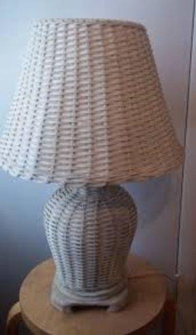 Wicker Table Lamp Foter