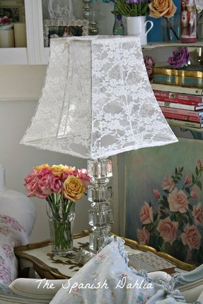 Shabby chic lamp shade foter white ruffle lamp shade mozeypictures Gallery