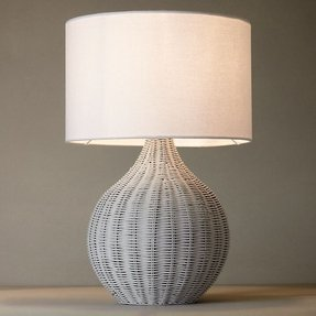 Wicker table lamp foter wicker table lamp 4 aloadofball Images