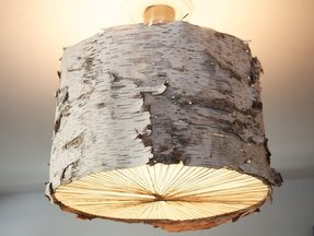 Bark Lamp Shade Foter