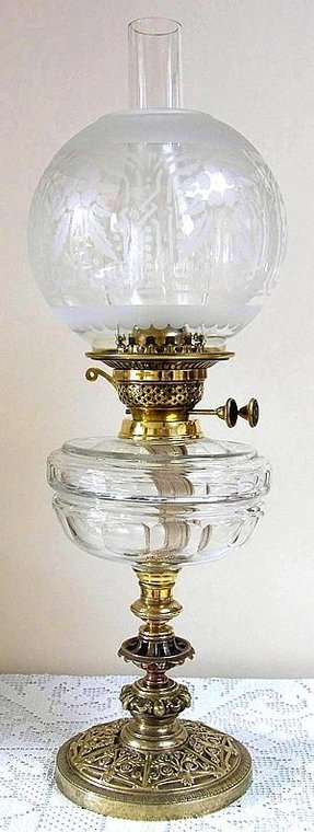 Glass Kerosene Oil Lamp Foter