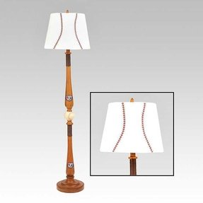 Baseball bat lamp foter baseball floor lamp mozeypictures Choice Image