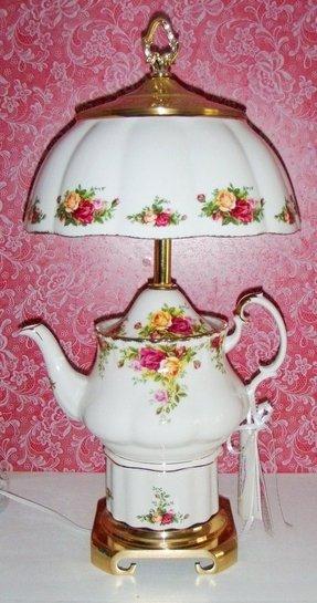 Porcelain Rose Lamp Foter