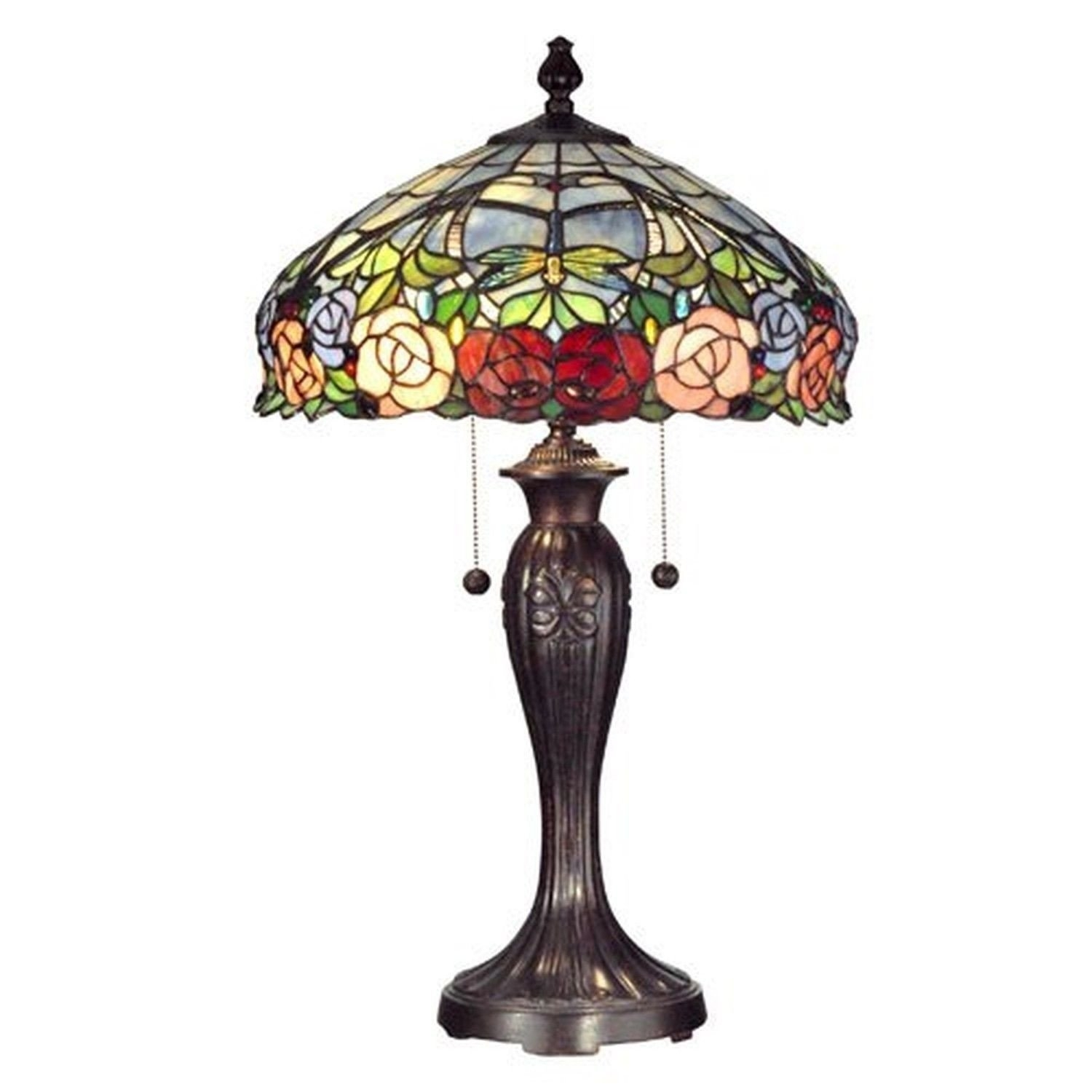 Dale Tiffany Zenia Rose 27 H Table Lamp With Bowl Shade