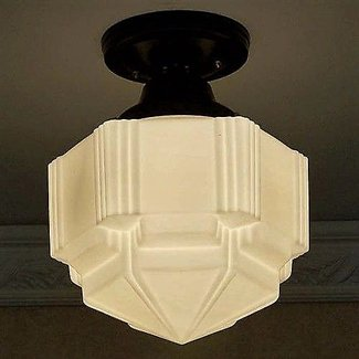 Dynamic Art Deco Ceiling Lamp Light Gl Shade Fixture Kitchen