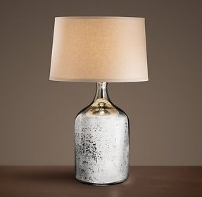 Glass mercury table lamp 19