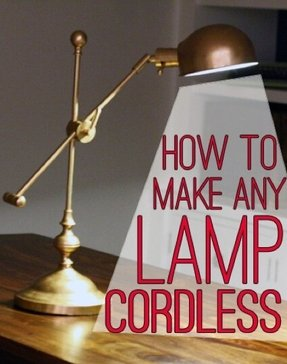 How to make any lamp cordless 2
