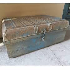 Original_vintage Metal Storage Trunk Chest Jpg