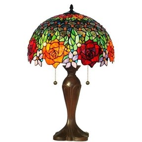 Rose tiffany table lamp