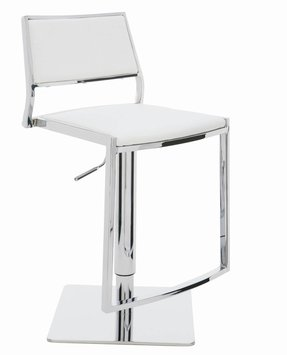 White Leather Bar Stools Ideas On Foter