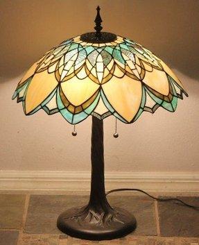 art deco lamp. Tiffany Sty Stained Glass Art Deco Lamp Golden Daze W